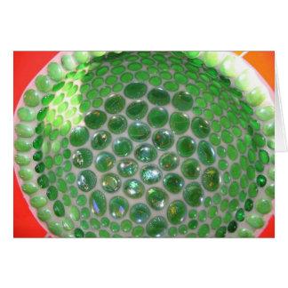 Vidrio verde Mosiac Tarjeta De Felicitación