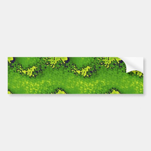 Vidrio verde texturizado extracto pegatina de parachoque