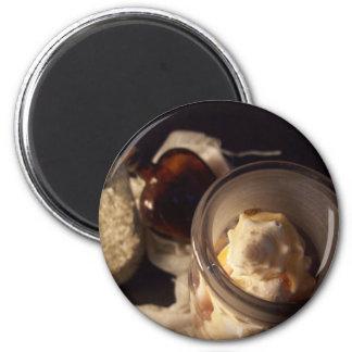 Vidrio y cáscaras (color) imán redondo 5 cm