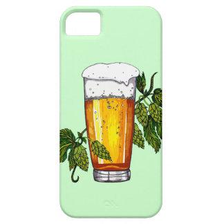 Vidrio y saltos de cerveza iPhone 5 carcasa