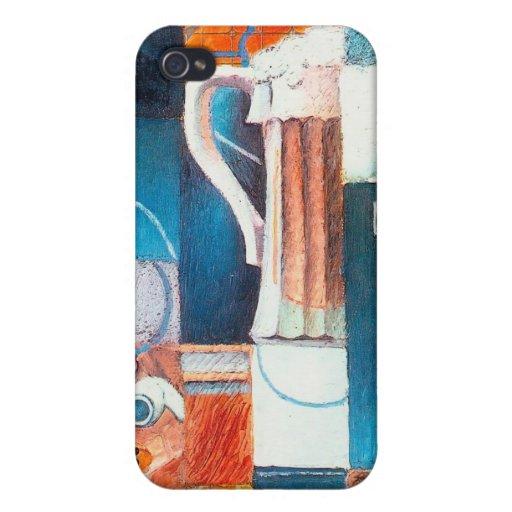 Vidrio y tarjetas de cerveza, por Juan Gris iPhone 4/4S Fundas