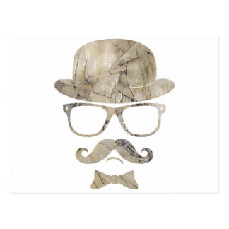 vidrios 3 de derby del bigote del inconformista postales