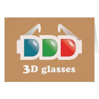 vidrios 3D Tarjeta De Felicitación