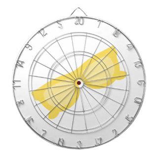 Vidrios amarillos de las gafas del inconformista d tablero dardos