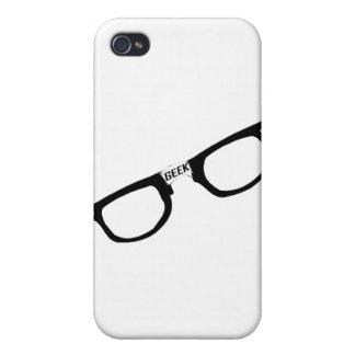 Vidrios bordeados negro del friki iPhone 4 carcasas