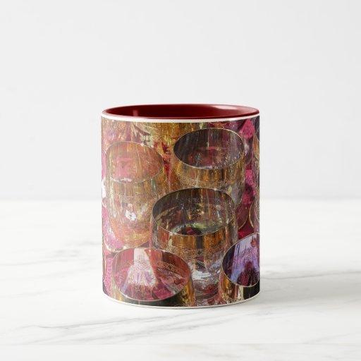 Vidrios coloreados taza de café
