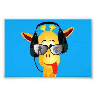 vidrios cómicos de la jirafa del verano divertido  fotografias