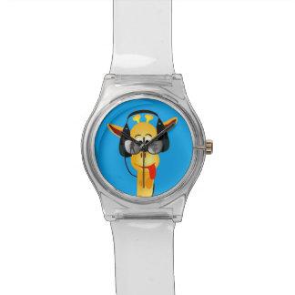 vidrios cómicos de la jirafa del verano divertido  relojes