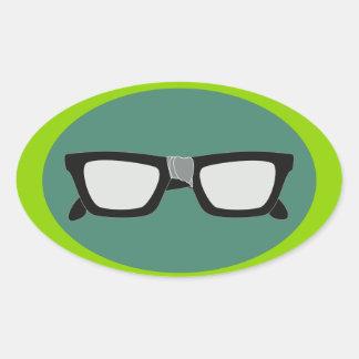 Vidrios Conducto-Grabados Pegatina Ovalada