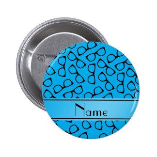 Vidrios conocidos personalizados del negro azul de chapa redonda 5 cm
