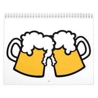 Vidrios de cerveza calendario