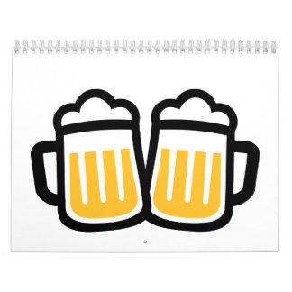 Vidrios de cerveza calendarios