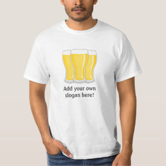 Vidrios de cerveza: Lema adaptable Poleras