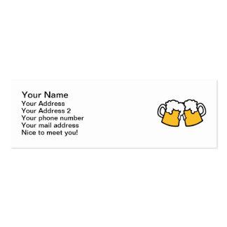 Vidrios de cerveza tarjetas de visita mini