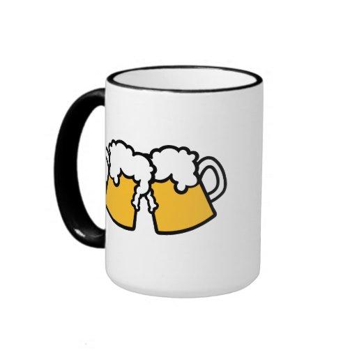 Vidrios de cerveza taza