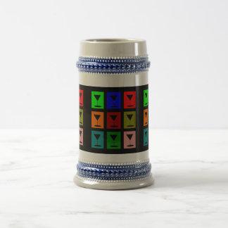 Vidrios de cóctel jarra de cerveza