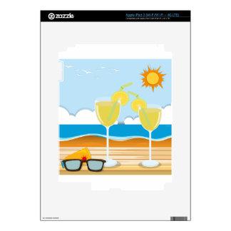 Vidrios de cóctel por el mar iPad 3 pegatinas skins