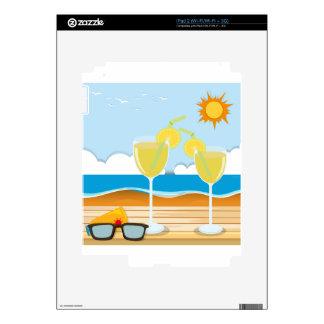 Vidrios de cóctel por el mar skins para iPad 2