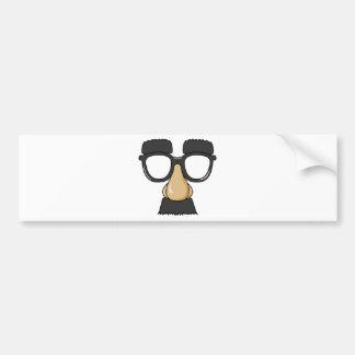 Vidrios de Groucho (a.k.a. el Beaglepuss) Pegatina De Parachoque