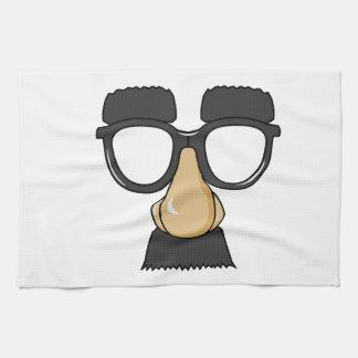Vidrios de Groucho (a.k.a. el Beaglepuss) Toalla De Cocina