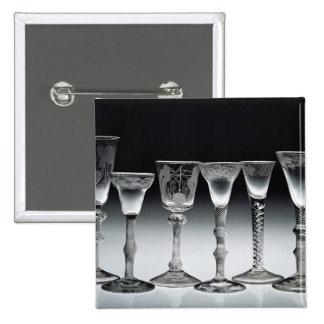 vidrios de la Aire-torsión, 1750-60 Pins