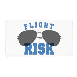 Vidrios de la aviación del riesgo de vuelo etiquetas de envío