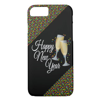 Vidrios de la Feliz Año Nuevo I Champán Funda iPhone 7