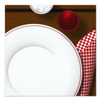 vidrios de las invitaciones de la comida campestre invitación 13,3 cm x 13,3cm