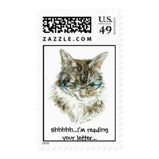 Vidrios de LECTURA del gato de Coon de Maine Sello