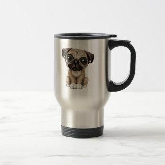 Vidrios de lectura lindos del perro de perrito del taza térmica