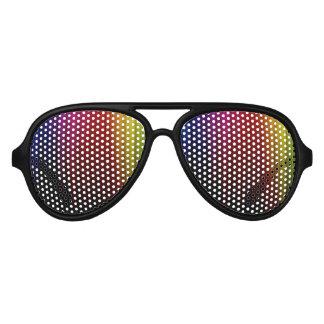 Vidrios de lluvia del arco iris lentes de sol