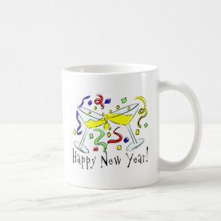 Vidrios de Martini de la Feliz Año Nuevo Tazas