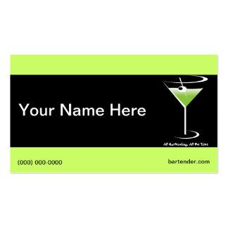 Vidrios de Martini de la tarjeta de visita del cam