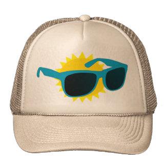 vidrios de sol gorros