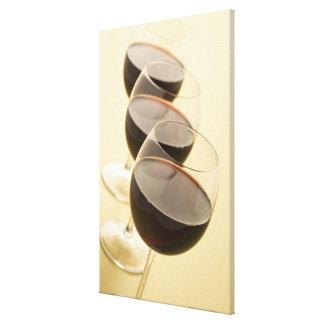 Vidrios de vino rojo impresión de lienzo