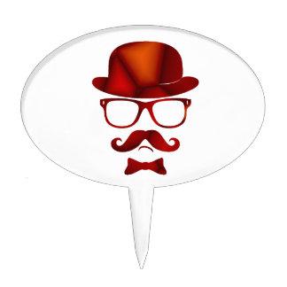 Vidrios del bigote del 1b derby del inconformista decoración para tarta