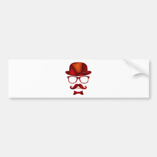 Vidrios del bigote del 1b derby del inconformista pegatina para auto