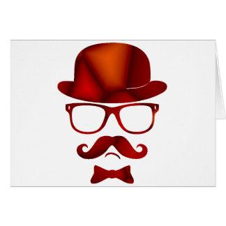 Vidrios del bigote del 1b derby del inconformista tarjeta de felicitación
