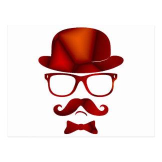 Vidrios del bigote del 1b derby del inconformista tarjetas postales