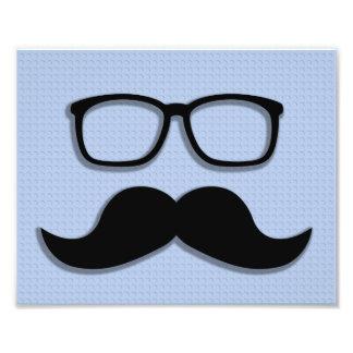 Vidrios del bigote del inconformista del friki cojinete