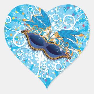 Vidrios del carnaval pegatina corazon personalizadas
