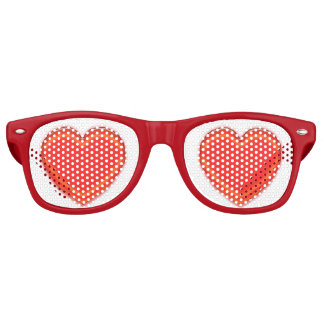 Vidrios del fiesta - corazones rojos gafas de fiesta