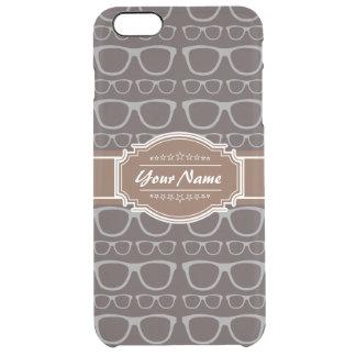 Vidrios del inconformista del empollón del café funda clearly™ deflector para iPhone 6 plus de unc