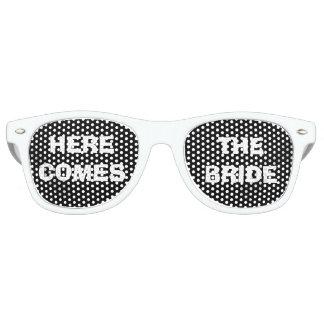 Vidrios del ojo del fiesta de la novia blanco y lentes de sol