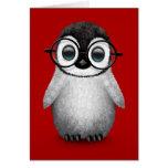 Vidrios del ojo del pingüino lindo del bebé que ll