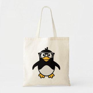 Vidrios del pingüino bolsa de mano