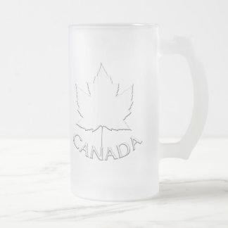 Vidrios del recuerdo de la hoja de arce de Canadá