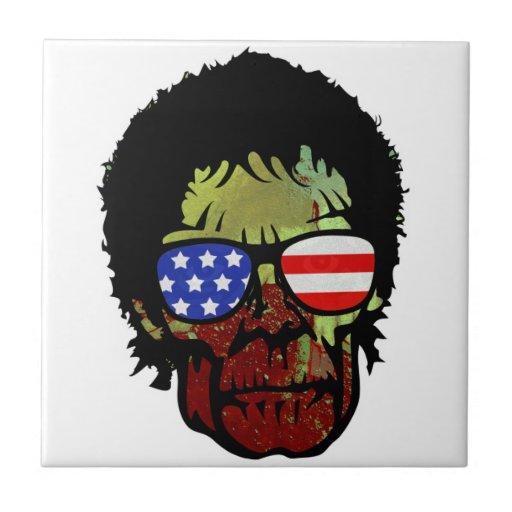 vidrios del zombi tejas  cerámicas
