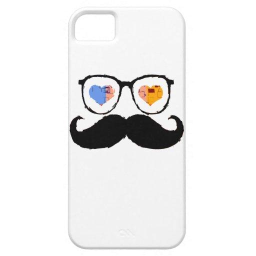 Vidrios divertidos 5 del bigote iPhone 5 Case-Mate funda