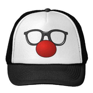 Vidrios divertidos con la nariz divertida roja gorro